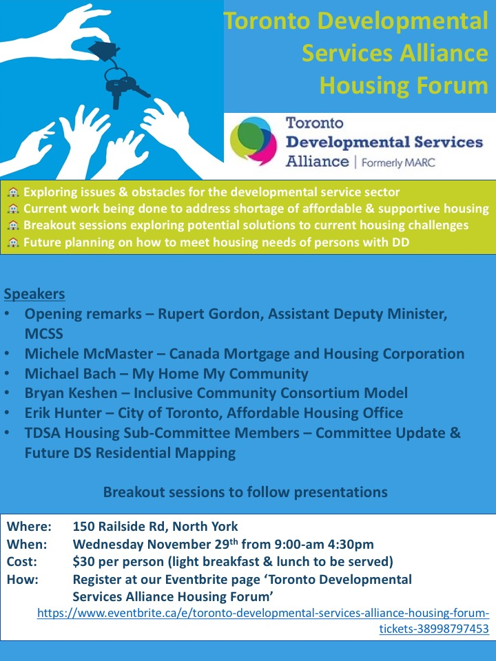 TDSA Housing Forum November 29th